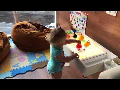 Рисование песком на световых столах для детей.  Световой стол от производителя