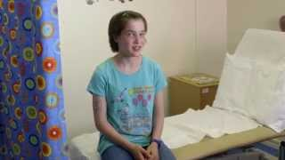 Blood test video for children and teenagers