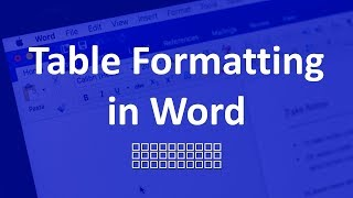 Table formatting in Word | MS Word Tricks