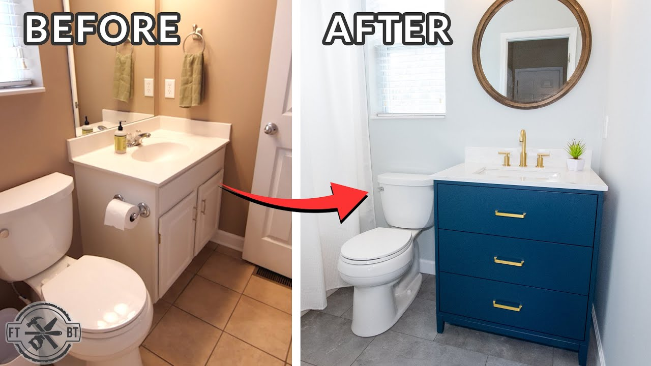 DIY Small Bathroom Makeover | Bath Remodel Project