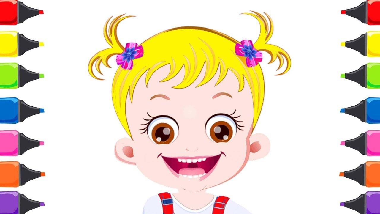 Oyuncak Bebek Boyama Oyunu Baby Hazel Boyama Renkleri öğreniyorum