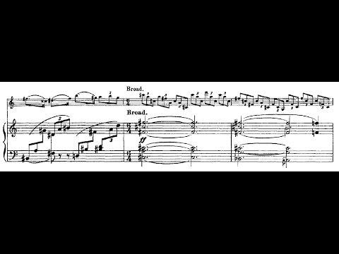 Violin Sonata No  1 - Delius (Menuhin/Fenby) with score