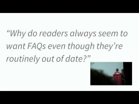 Image from The Facts about FAQs - Ashleigh Rentz - Write the Docs Portland 2018