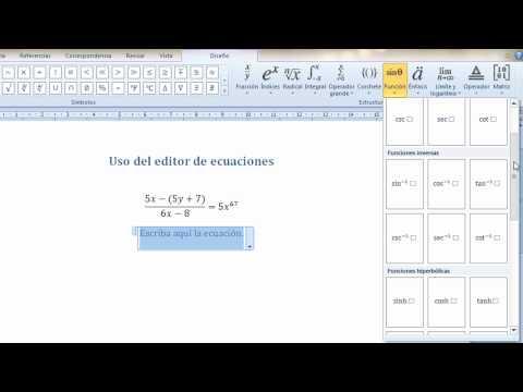 Tutorial: Editor de ecuaciones