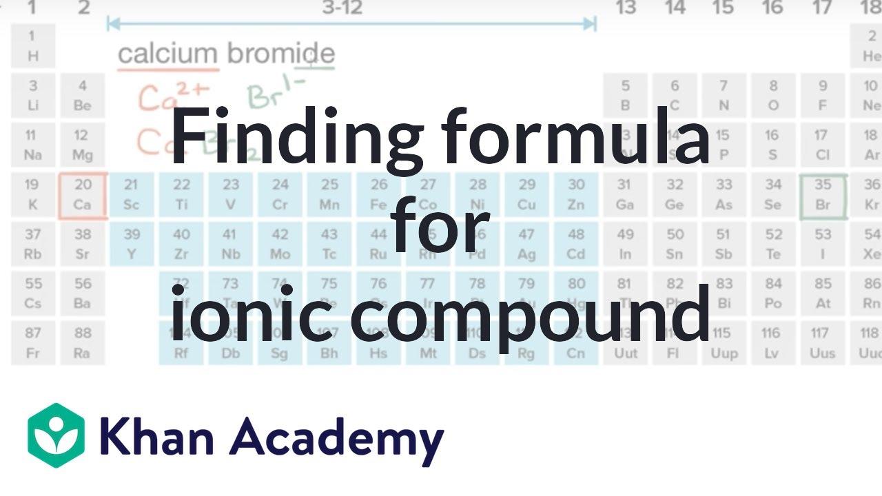 Formula For Calcium Bromide Youtube
