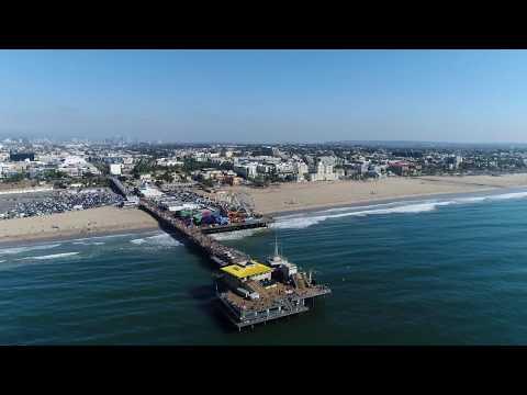 Santa Monica Pier 4K Drone