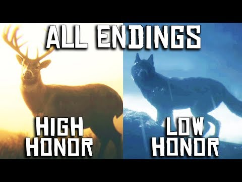 Red Dead Redemption 2 - ALL 8 ENDINGS (Low & High Honor) [PC, 4K]