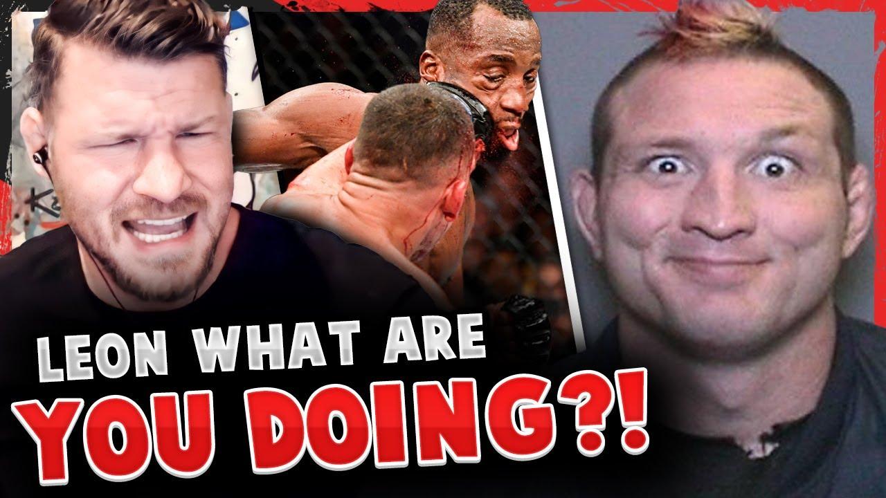 Michael Bisping REACTS to Leon Edwards almost KO'd by Nate Diaz! Mayhem Miller statement on ARREST!
