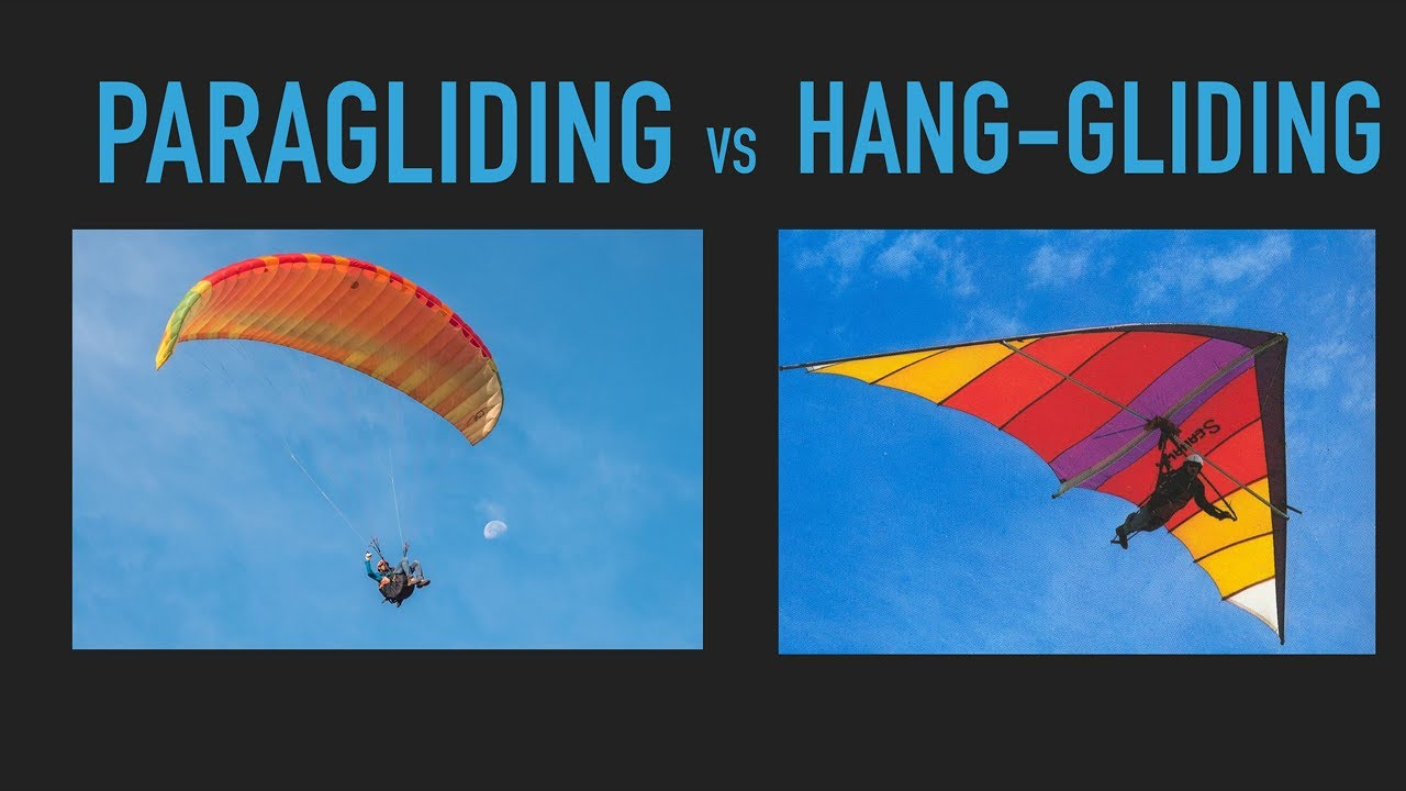 Difference between PARAGLIDING and HANG GLIDING one must know!!!