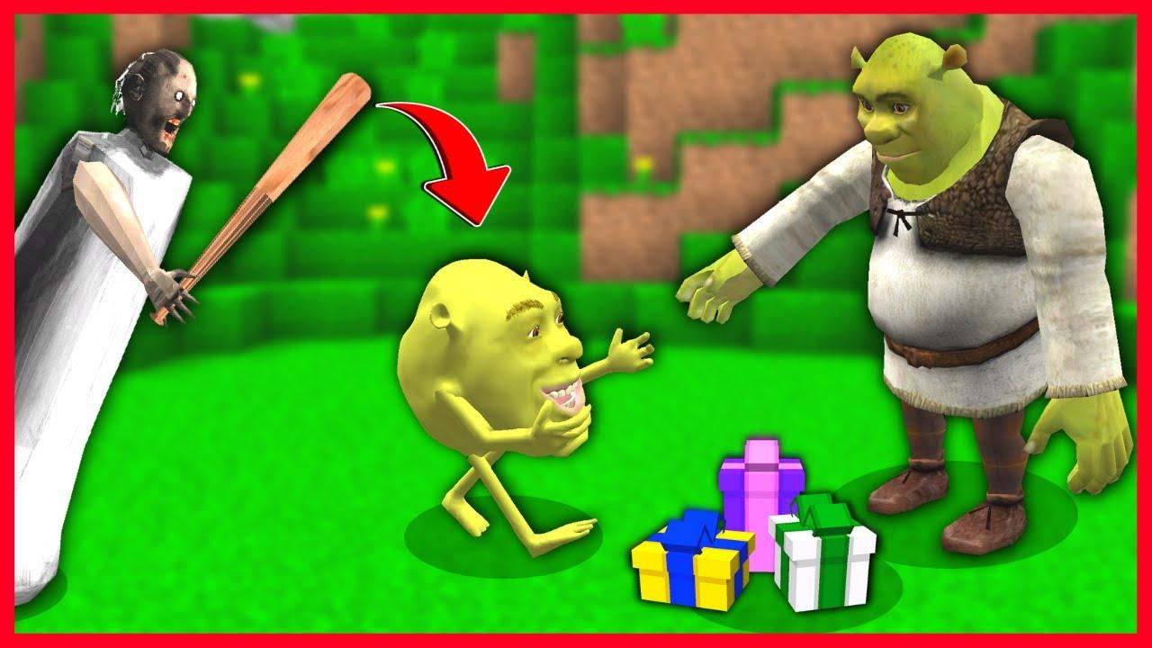 BEBEK SHREK BAYRAMLAŞIRKEN GRANNY SALDIRDI! 😱 - Minecraft