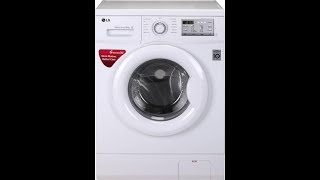 LG FH0FANDNL02 - 6 kg Fully Automatic Front Load Washing Machine White best price by Flipkart