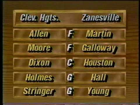 Zanesville vs Cleveland Heights 1995 Ohio High School Basketball State Championship - Part 1 of 4