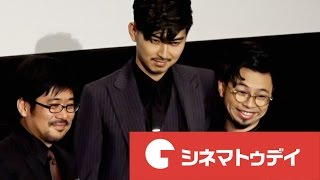 俳優の松田翔太が3日、新宿バルト9で行われた映画『ディアスポリス -DIR...