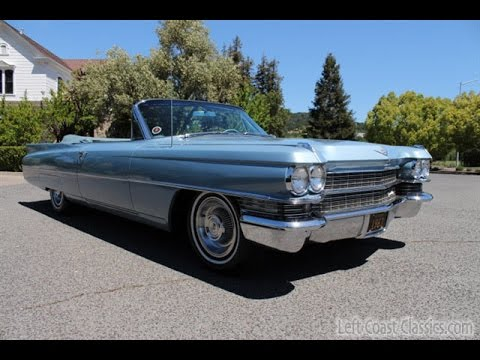 1963 Cadillac Convertible for Sale in Benton Blue - YouTube