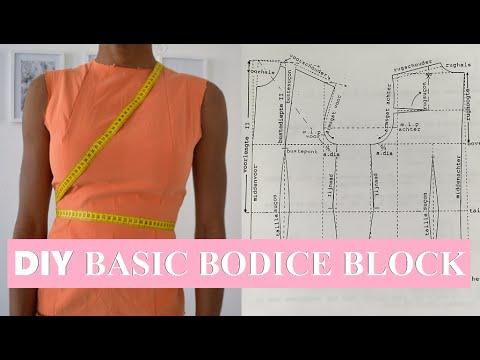 DIY SEWING BASICS | HOW TO MAKE A BASIC BODICE BLOCK PATTERN