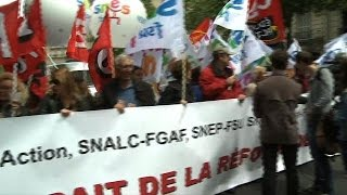 Teachers strike in France to protest school reforms
