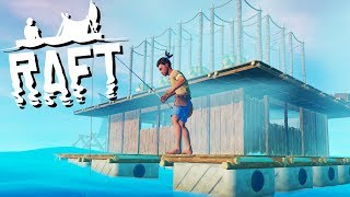 Amazing Tree Farm and Building a House! - Raft Gameplay