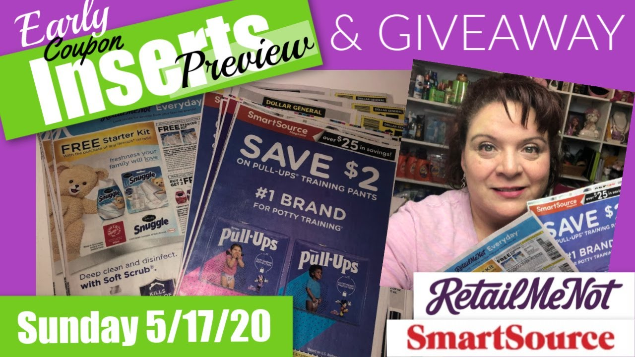 Early 5 17 20 Coupon Insert Preview Smart Source Retail Me Not Youtube