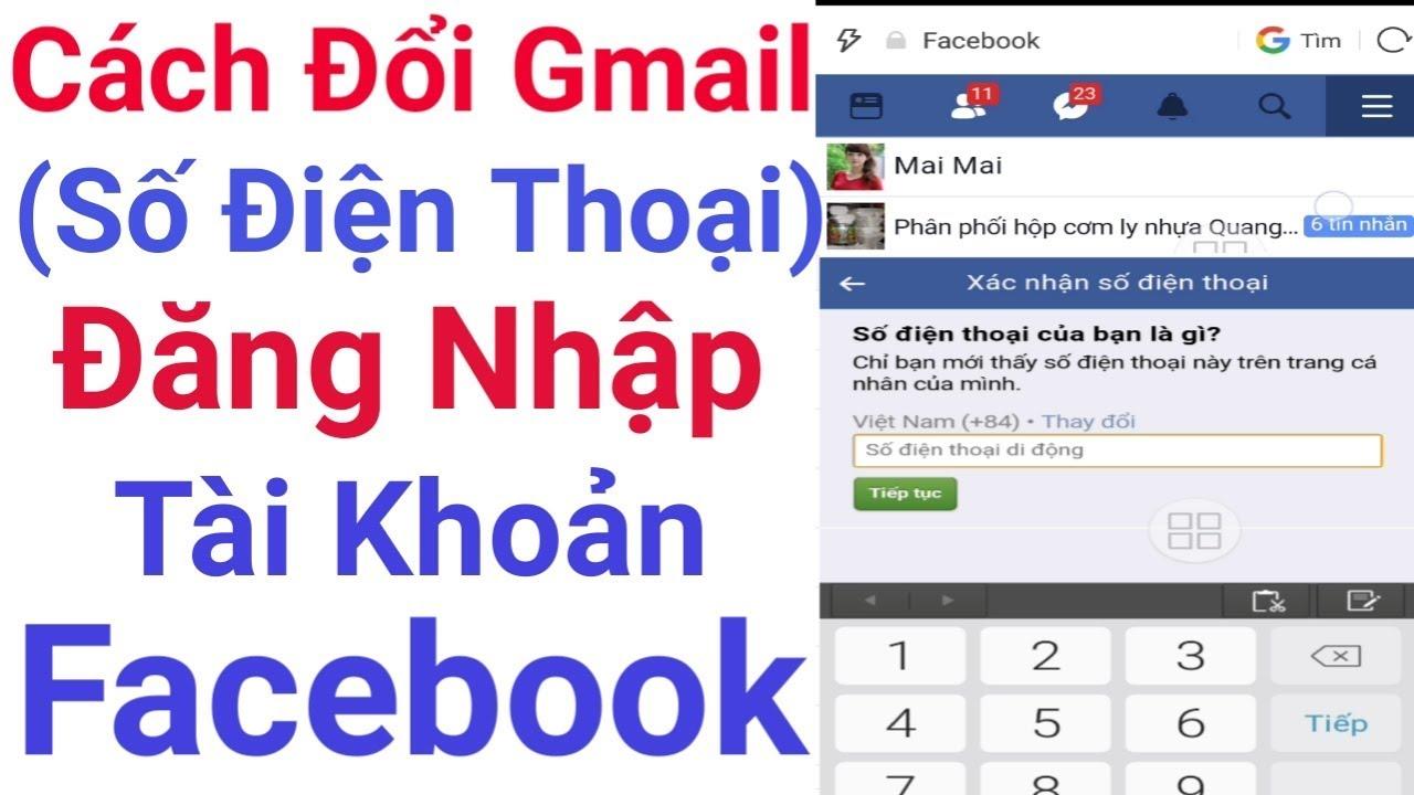 Thủ thuật thay đổi địa chỉ gmail ||số điện thoại|| đăng nhập tài khoản facbook cực đơn giản