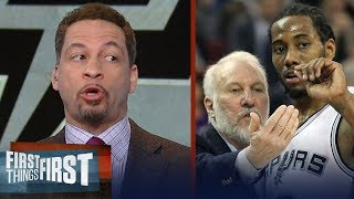 Chris Broussard reveals Gregg Popovich's role in the Spurs' Kawhi Leonard saga | FIRST THINGS FIRST