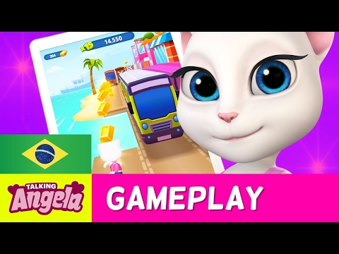 Talking Angela - Talking Tom: Corrida do Ouro (Gameplay)