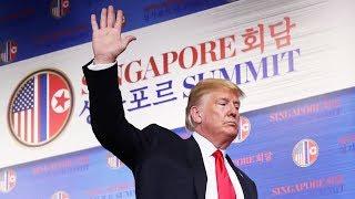 Trump speaks to media after summit with Kim Jong-un