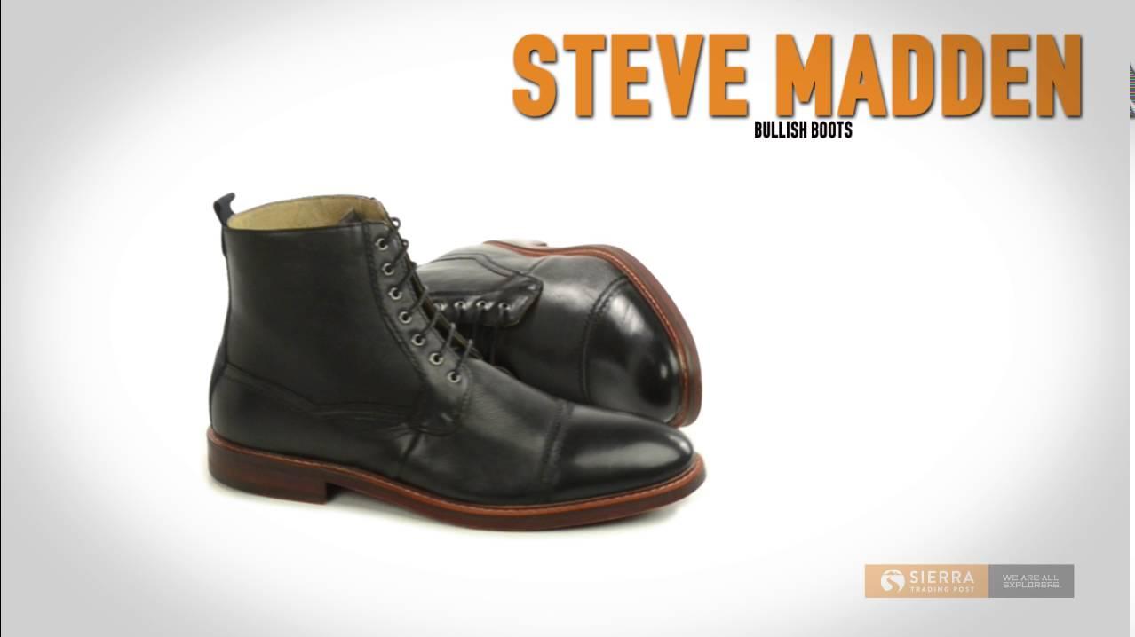 Steve Madden Bullish Boots - Leather, Cap Toe (For Men)
