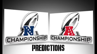 2019 AFC & NFC Championship Predictions