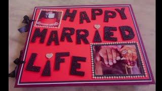 #Happy marriage life scrapbook #photo album #Scrapbook greeting card for wedding L❤ve anniversary...