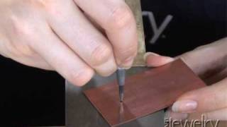Art Jewelry - Drilling Into Metal