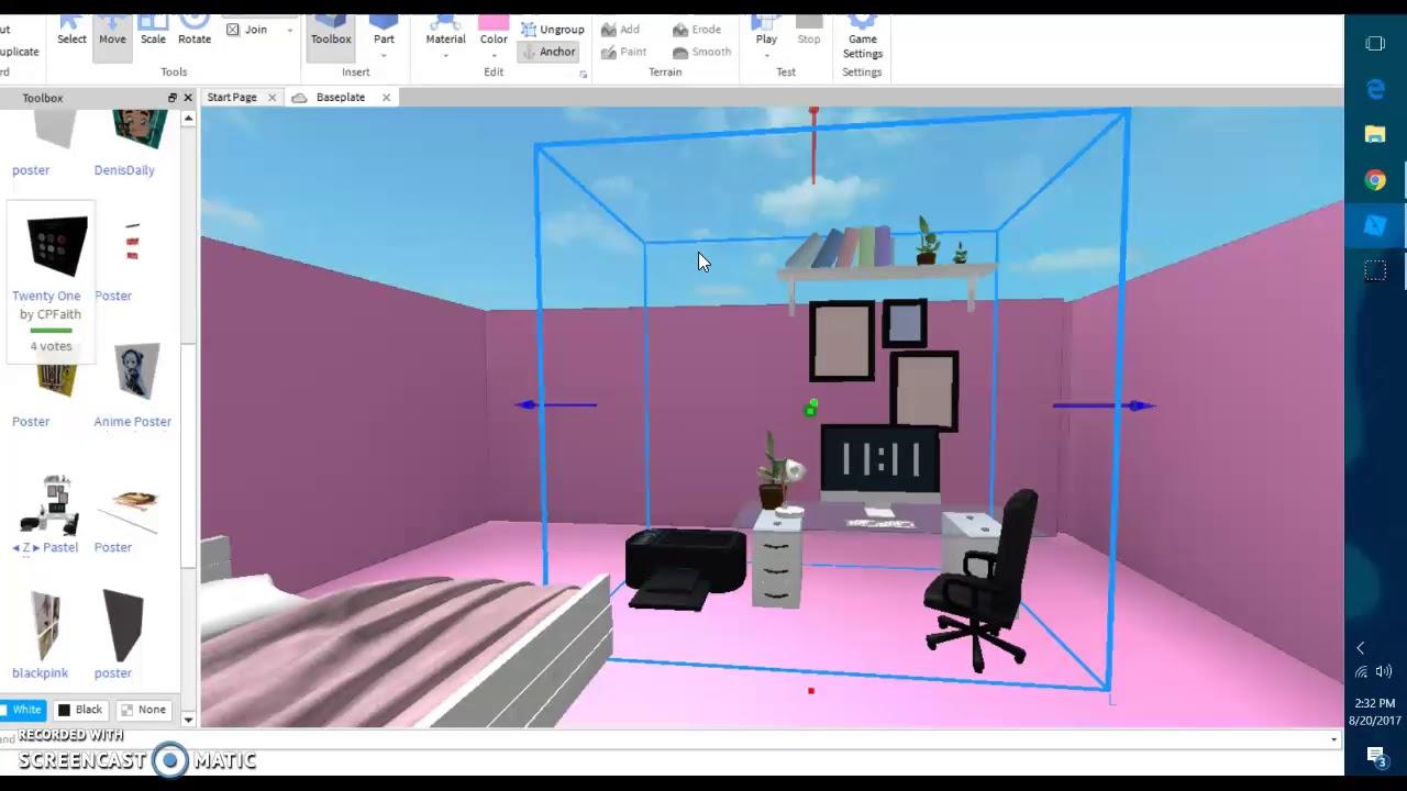 Roblox Room: Girl Room Roblox Studio