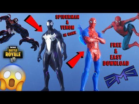 SPIDERMAN & VENOM & MORE HERO SKINS IN FORTNITE! - Download CUSTOMIZED SKINS {ZMS Texture Pack}