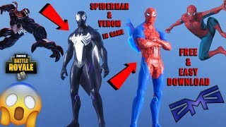SPIDERMAN & VENOM & MORE HERO SKINS IN FORTNITE! - Download CUSTOMIZED SKINS {ZMS Texture Pack}
