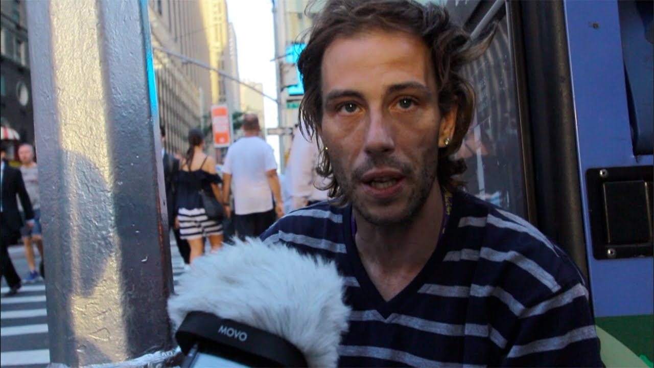 Depressed HOMELESS Man Tells His Story - Emotional ...