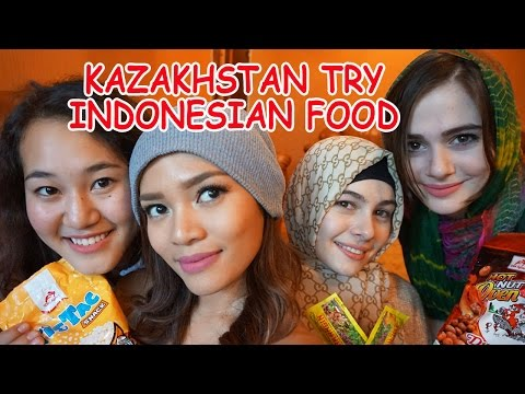 Kazakhstan Try Indonesian Food- sub Bahasa