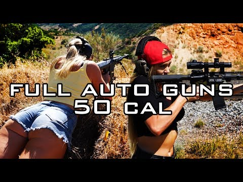California Girls Shoot Full Auto And 50 Cal // Olivia Paladin