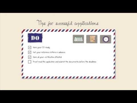 Scholarship and job application tips