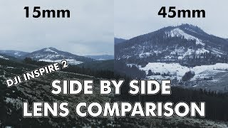 DJI Inspire 2 - X5s - DJI 15mm f1.7 vs Olympus M. Zuiko 45mm f1.8 - LENS COMPARISON / SIDE BY SIDE