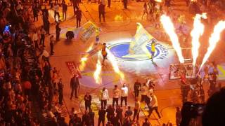 Warriors Psyching up the crowd introducing the lineup   Game 1   NBA Finals 2017