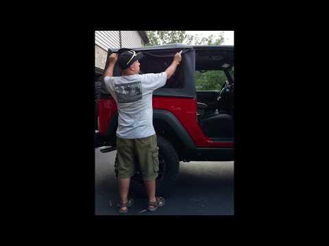 Wrangler JK soft top side window install, the easy way.