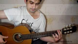 Черный плащ (Мелодия, аккорды, урок на гитаре)