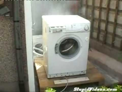 Washing Machine Destroyed By Brick Youtube