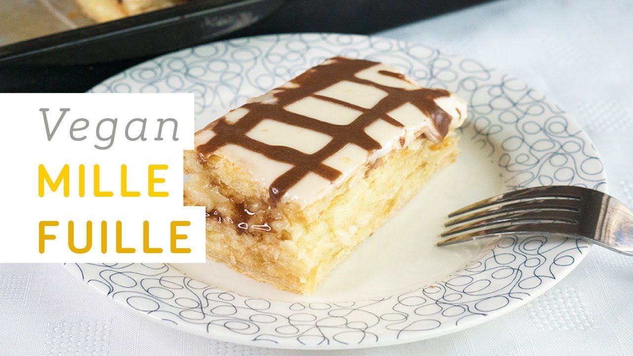 Easy vegan mille feuille with home-made custard