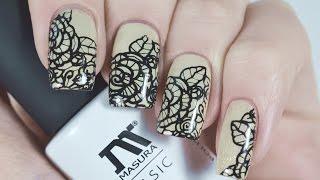 Дизайн Ногтей с кружевом гель-лаком Масура | Lace Nail Art Tutorial | BornPrettyStore Stamping(Всем привет! Сегодня я покажу как сделать красивый дизайн ногтей с кружевами гель-лаком от Масура и стемпин..., 2016-02-27T14:27:03.000Z)