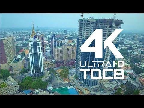 Bangalore City | Bengaluru | UB City | India | Stock Footage | Helicam India | 4K