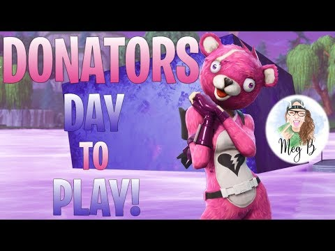 ????Fortnite: Donators Day-to-Play. Loot Lake Volcano Event Today?! [PS4]????