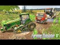 Delivery Truck with New Combine Stuck in Mud - Farming Simulator 2017 | FS 2017 Mods LS17