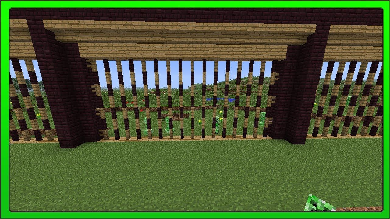 minecraft fence designs. minecraft concepts redstone auto perimeter fence youtube designs s