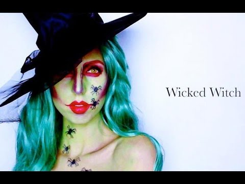 HALLOWEEN MAKE UP TUTORIAL ♡ WICKED WITCH - 동영상