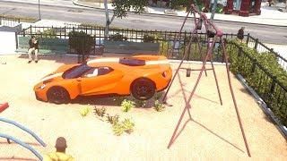 GTA 4 Swing Set of Death - GTA IV Crash Testing Real Car Mods